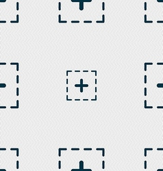 Plus in square icon sign Seamless pattern with vector