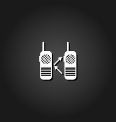 radio icon flat vector image