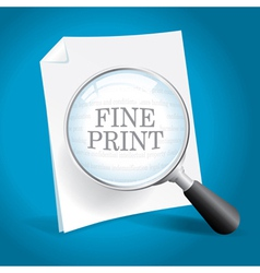 Reviewing the Fine Print vector