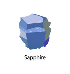 sapphire precious gemstone mineral corundum vector image