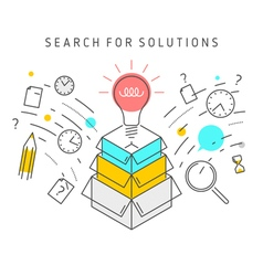 Search for solution concept vector