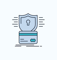 Security credit card card hacking hack flat icon vector
