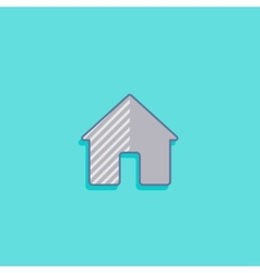 Simple with a house home icon flat design vector