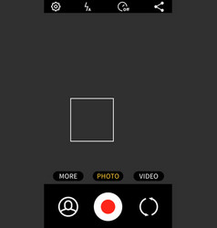 smartphone application mobile video and photo app vector image