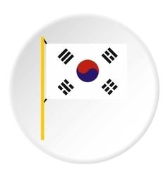 South Korea flag icon flat style vector image