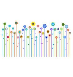 spring or summer banner vector image