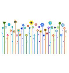spring or summer banner vector image