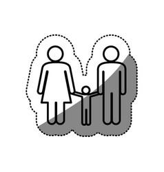 Sticker silhouette pictogram silhouette couple vector