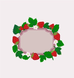 strawberry frame isolated vector image