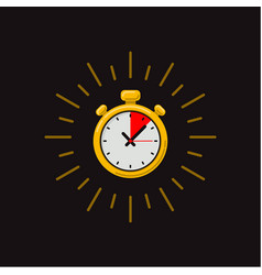 Timer icon on dark background fast time fast vector