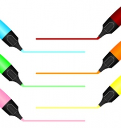tracing markers vector image