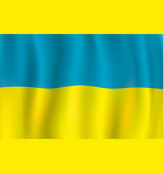 ukrainian flag blue and yellow banner vector image