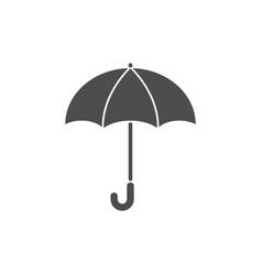 umbrella silhouette graphic design template vector image