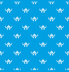 viking helmet knight pattern seamless blue vector image