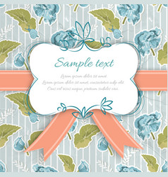 vintage decorative greeting card vector image