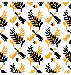 vintage student graduate seamless pattern design vector image