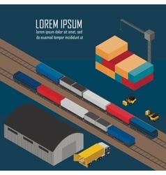 Warehouse management at railway depots vector image