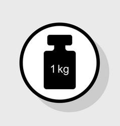 weight simple sign flat black icon in vector image