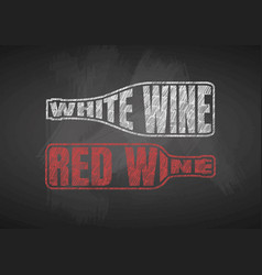 White and red wine vector