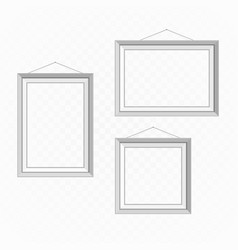 white picture frame set vector image