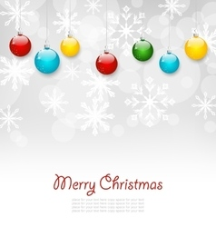 Christmas Greeting Card with Colorful Balls vector image vector image