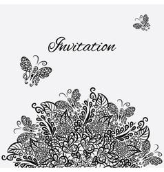 invitation White background vector image vector image