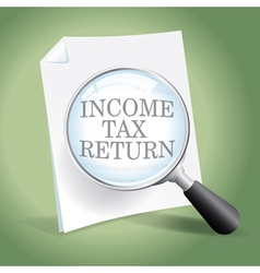 Reviewing an Income Tax Return vector image
