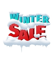 Winter sale 3d inscription on white vector image
