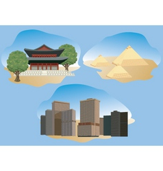 cities illustration vector image