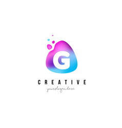 g letter dots logo design with oval shape vector image