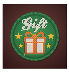 gift fabric badge vector image