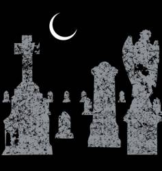 grave yard scene vector image
