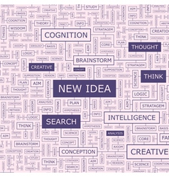 NEW IDEA vector image vector image