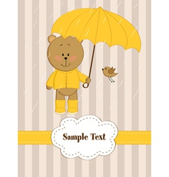 Rain Card vector image
