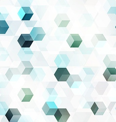 technology cube seamless pattern vector image