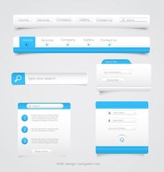 Web site navigation menu pack 2 vector image vector image
