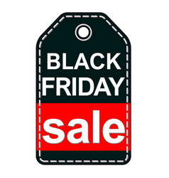 black friday sale tag isolated on white background vector image