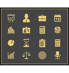 Business and financial icon set vector image vector image
