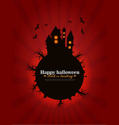 castle and moon halloween background vector image vector image