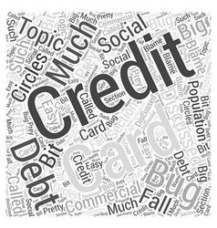 Credit Card Debt Word Cloud Concept vector image