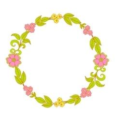 flower wreath Floral Frame vector image vector image