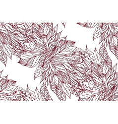 Hand drawing floral background vector image vector image