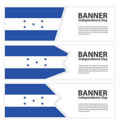 honduras flag banners collection independence day vector image
