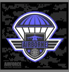 national airborne day vector image