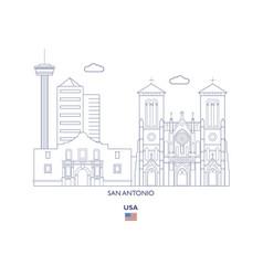 san antonio city skyline vector image