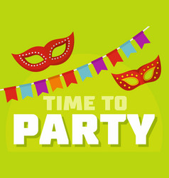 time to party logo flat style vector image