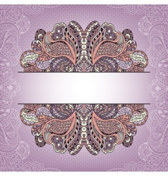 Vintage greeting card template with decorative vector image vector image