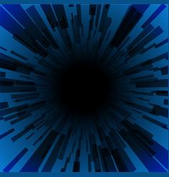 blue burst ray black hole dark stripe vector image vector image