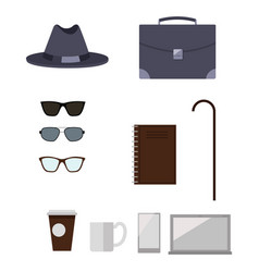 character construction items vector image