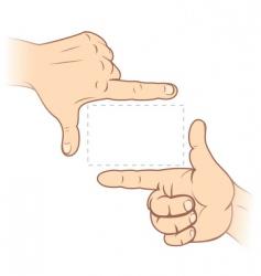 finger frame vector image vector image